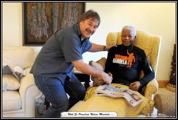 Moments with Nelson Mandela at his 94th Birthday - by Pretoria photographer Peter Morey